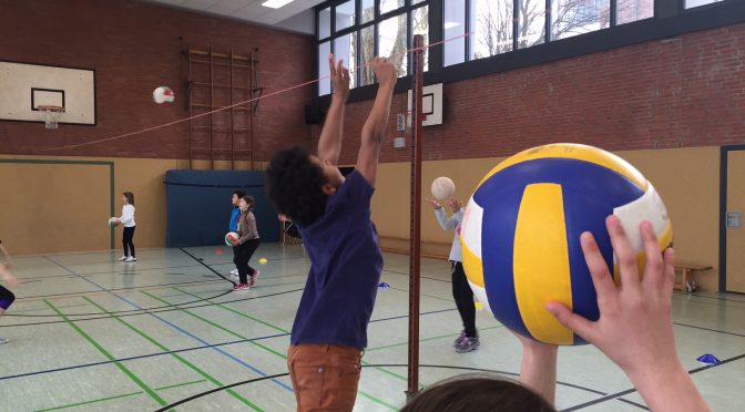 Volleyballtraining am 28.6