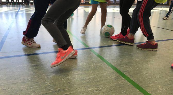Fußballbundesligaspieler zu Gast